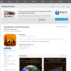 Geo Walk HD - 3D World Fact Book for iPad on the iTunes App Store