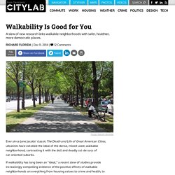 Walkability Is Good for You