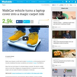 WalkCar vehicle turns a laptop cover into a magic carpet ride