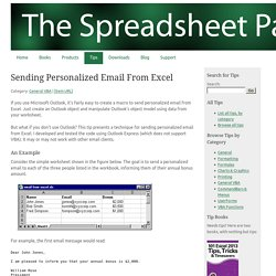 Sending Personalized Email From Excel