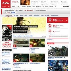 Metal Gear Solid: Peace Walker - PlayStation Portable