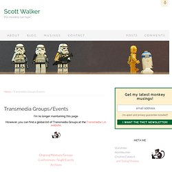Scott Walker – Transmedia Groups/Events
