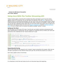 a walking city » Blog Archive » Using Java With The Twitter Streaming API