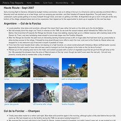 Trip Report: Walking the Haute Route, Chamonix to Zermatt