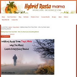 Walking Away From Toxic Mold - Why You Must Leave Everything Behind by Hybrid Rasta Mama