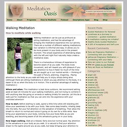 how to do a walking meditation.