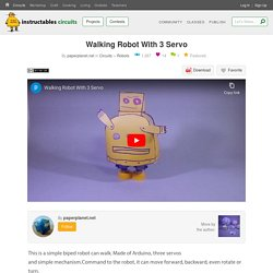 Walking Robot With 3 Servo : 4 Steps (with Pictures) - Instructables