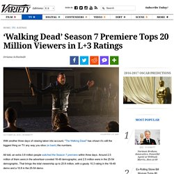 'Walking Dead' Season 7 Premiere Tops 20 Million Viewers