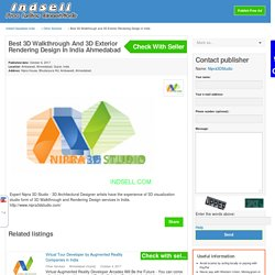 Best 3D Walkthrough and 3D Exterior Rendering Design in India Ahmedabad - INDSELL Classifieds