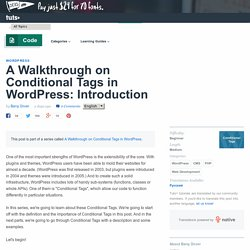 A Walkthrough on Conditional Tags in WordPress: Introduction - Tuts+ Code Tutorial