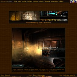 Visual Walkthroughs - Doom 3 Walkthrough - Delta Labs Sector 1
