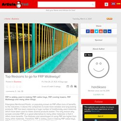Why to go for FRP Walkways?