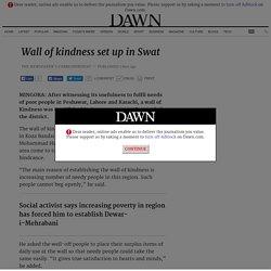Wall of kindness set up in Swat - Newspaper - DAWN.COM