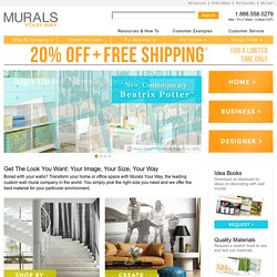 Wall Murals, Wallpaper Murals, Custom Murals- Murals Your Way - StumbleUpon
