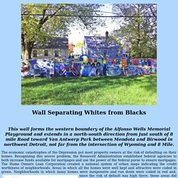 Wall Separating Whites from Blacks