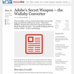 Adobe's Secret Weapon – the Wallaby Converter