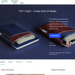 TGT (Tight) - A New Kind Of Wallet by Jack Sutter
