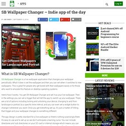 SB Wallpaper Changer - Indie app of the day