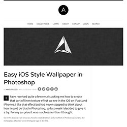 Easy iOS Style Wallpaper in Photoshop
