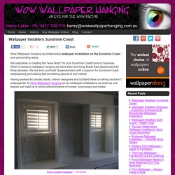 Wallpaper Installers Sunshine Coast - Wow Wallpaper Hanging