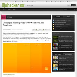 Wallpaper Roundup: GTD With Workflows And Quadrants