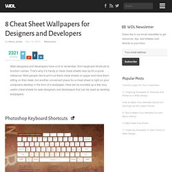 8 Cheat Sheet Wallpapers for Designers and Developers