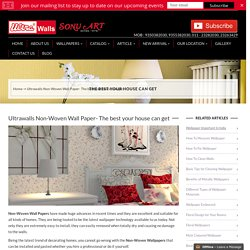 Non-Woven Wallpapers, Glamour Wallpapers, Golden Leaf Wallpaper