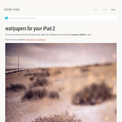 wallpapers for your iPad 2