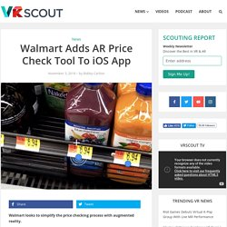 Walmart Adds AR Price Check Tool To iOS App