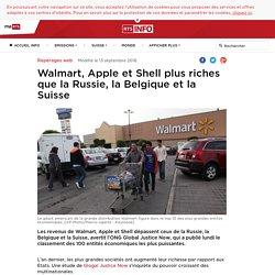 Walmart, Apple et Shell plus riches que la Russie, la Belgique et la Suisse - rts.ch - Repérages web