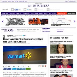 How Walmart's Bosses Get Rich Off Welfare Abuse