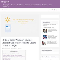 10 Best Fake Walmart Online Receipt Generator Tools to Create Walmart Style