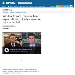 Walmart reports first quarter earnings