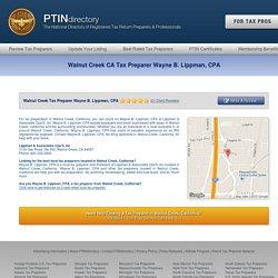 Walnut Creek CA Tax Preparer Wayne B. Lippman, CPA