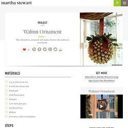 Walnut Ornament - Martha Stewart Crafts