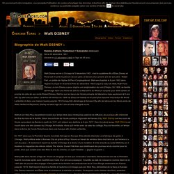 Walt DISNEY : Biographie de Walt DISNEY