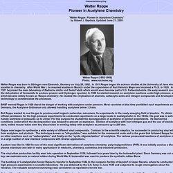 Walter Reppe Acetylene Chemistry