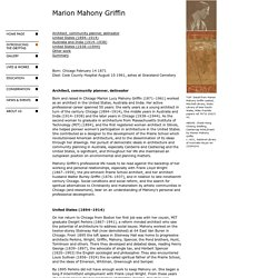 Walter Burley Griffin Society - Marion Mahony Griffin