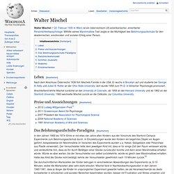 Walter Mischel – Marshmallow