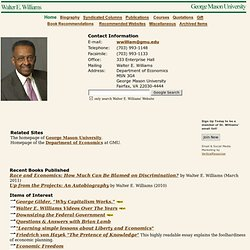 Walter Williams Home Page