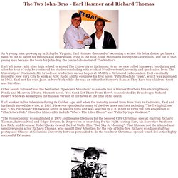 The Two John-Boys - Earl Hamner and Richard Thomas