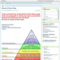 wamogodemo [licensed for non-commercial use only] / Maslow's Demo Page