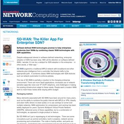 SD-WAN: The Killer App For Enterprise SDN?