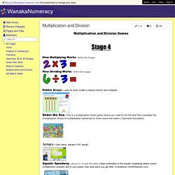 WanakaNumeracy - Multiplication and Division