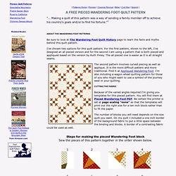 Free Pieced Wandering Foot Quilt Pattern & Wheel Quilting Design
