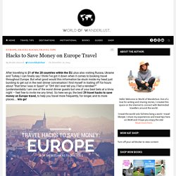 Hacks to Save Money on Europe Travel