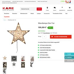 Wandlampe Star 11er - - KARE Design