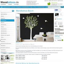 Wandtattoo Baum Wandtattoo Baum mit Blätter von Wandtattoos.de