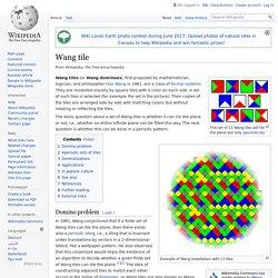 Wang tile - Wikipedia