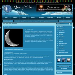 Waning Moon - Moon Phases